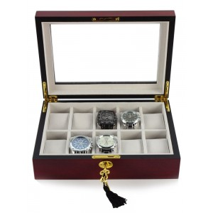 Cutie de depozitare Rothenschild RS-1087-10C pentru 10 ceasuri