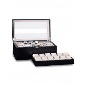 Cutie de depozitare Rothenschild Exclusive Line RS-5038-BK pentru 24 ceasuri