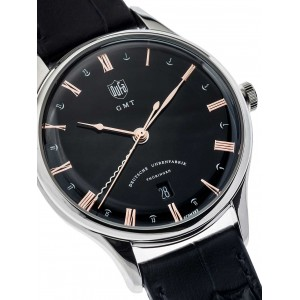 Mens watch DuFa Weimar DF-9006-01 GMT