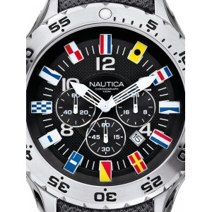 Mens watch Nautica NST Chrono Flag A24520G