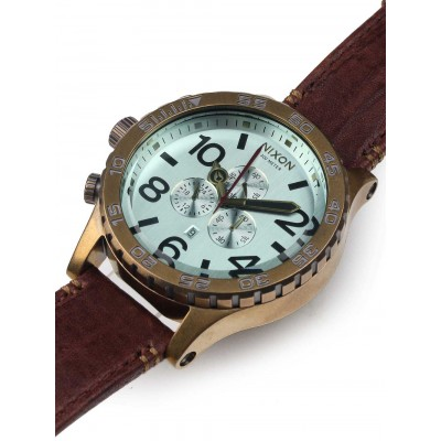 Ceas barbatesc Nixon 51-30 Chrono Leather A124-2223