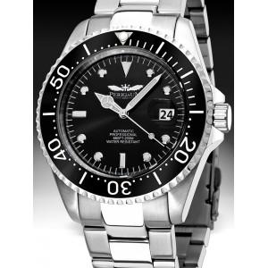 Mens watch Perigaum Pro-Diver P-1308-SS-BK